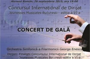 Concursul internațional de dirijat Jeunesses Musicales București ediția VI – concert de gală